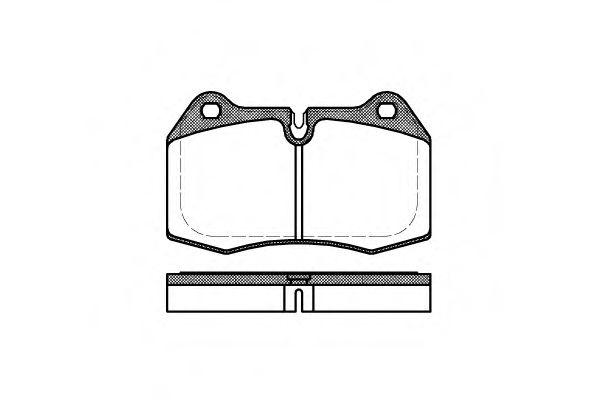 Колодки тормозные Bmw 7 E38 передние REMSA 0441.00