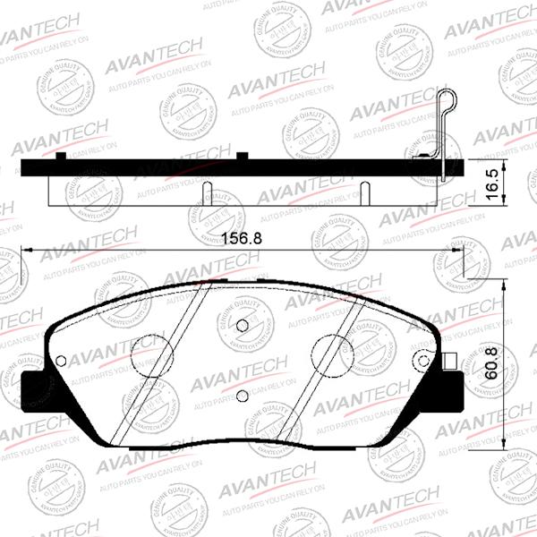 Колодки тормозные Hyundai Santa Fe передние AVANTECH AV157