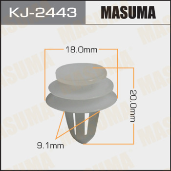 Клипса пластиковая masuma MASUMA KJ-2443