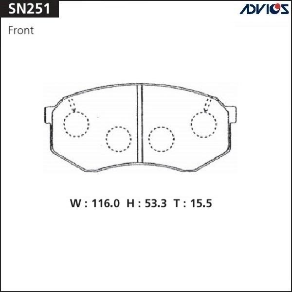 Колодки тормозные ADVICS SN251