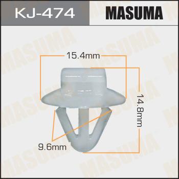 Клипса пластиковая masuma MASUMA kj474