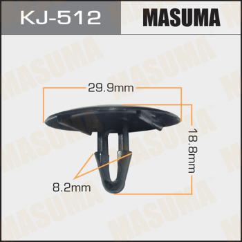 Клипса пластиковая masuma MASUMA kj512