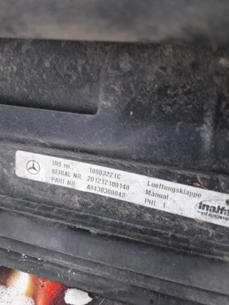 Люк механический Mercedes-Benz Actros