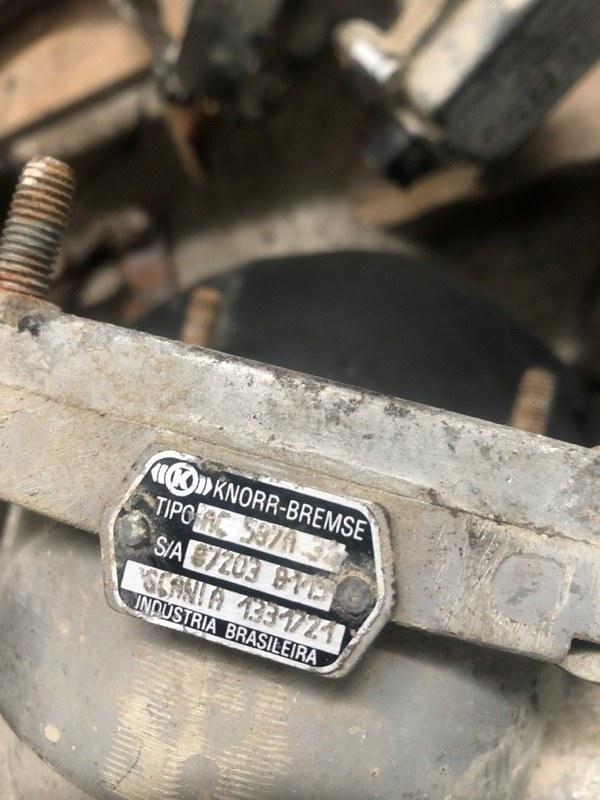 Кран управления тормозами принцепа Scania