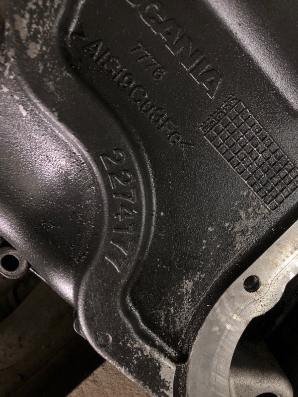 Плита двигателя Scania
