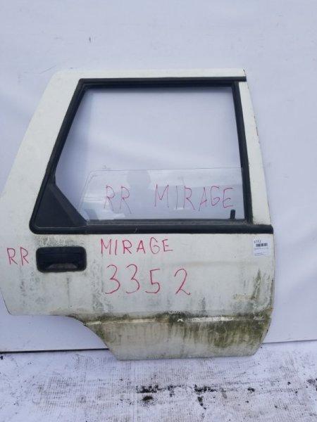 Дверь Mitsubishi Lancer C11V G13B 1988 задняя правая