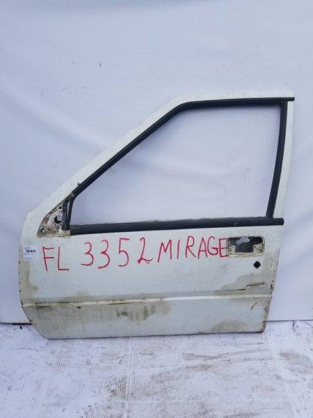 Дверь Mitsubishi Lancer C11V G13B 1988 передняя левая
