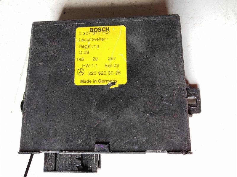 Блок управления корректора фар Mercedes-Benz S-Class WDB220 М113Е50 2001