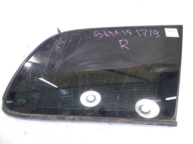 Стекло собачника Toyota Gaia SXM10 3SFE 2001 заднее правое