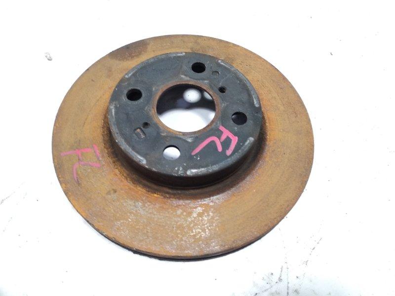 Тормозной диск Toyota Vitz NCP131 1KRFE 2011 передний левый