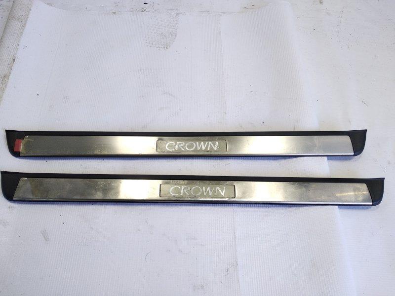 Накладка на порог салона Toyota Crown Athlete GRS200 4GRFSE 2010 передняя