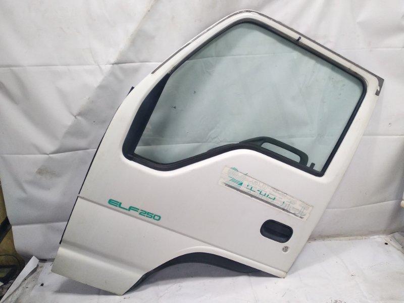 Дверь Isuzu Elf NHR69E 4HF1 1997 передняя левая