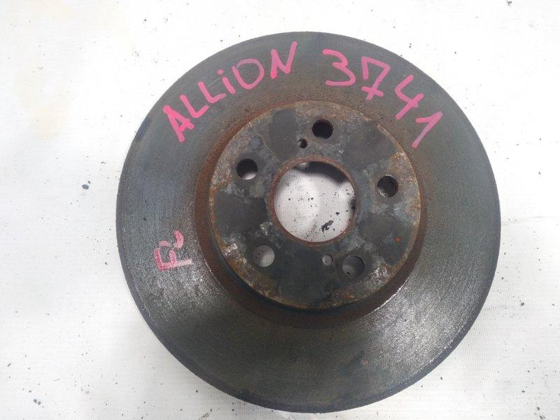 Тормозной диск Toyota Allion AZT240 1ZZFE 2005 передний левый