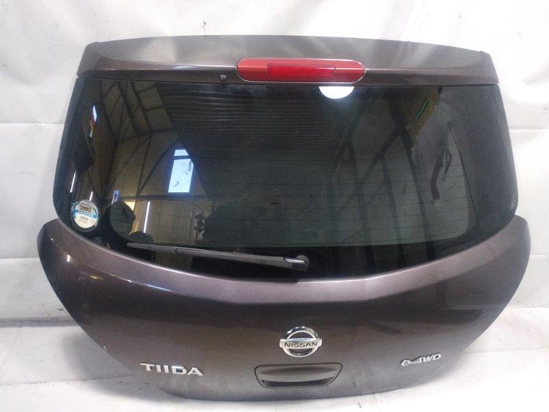 Дверь 5я Nissan Tiida JC11 MR18DE 2008 задняя