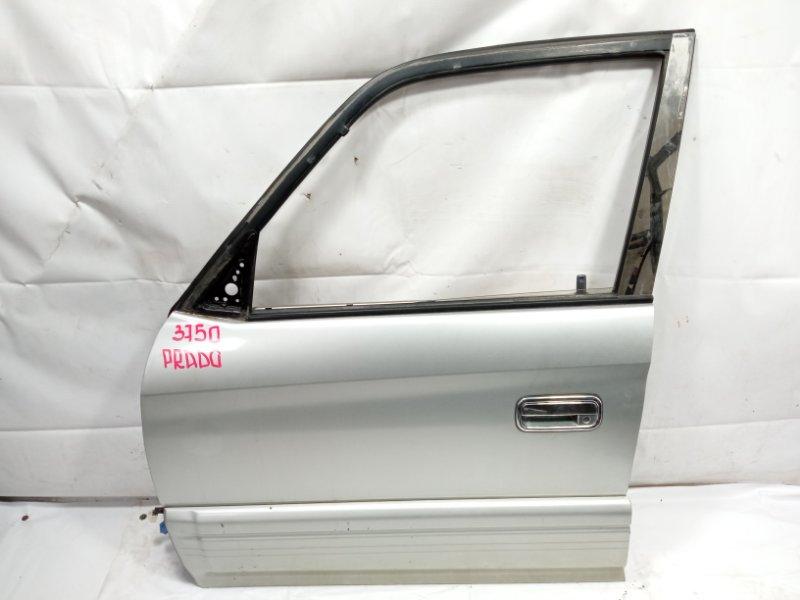 Дверь Toyota Land Cruiser Prado VZJ95 1KDFTV 2001 передняя левая