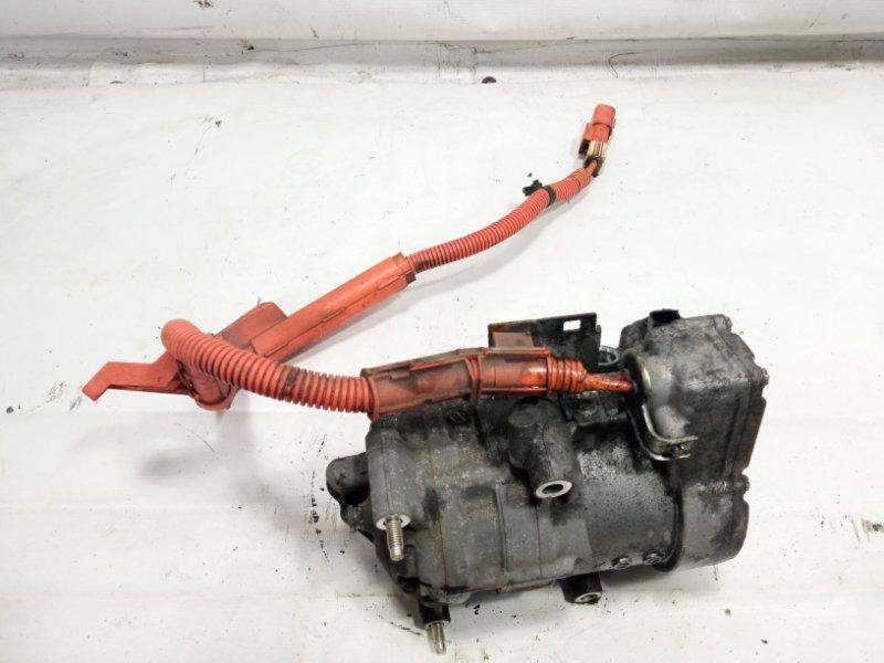 Компрессор кондиционера Honda Fit GP5 LEB 2015 передний