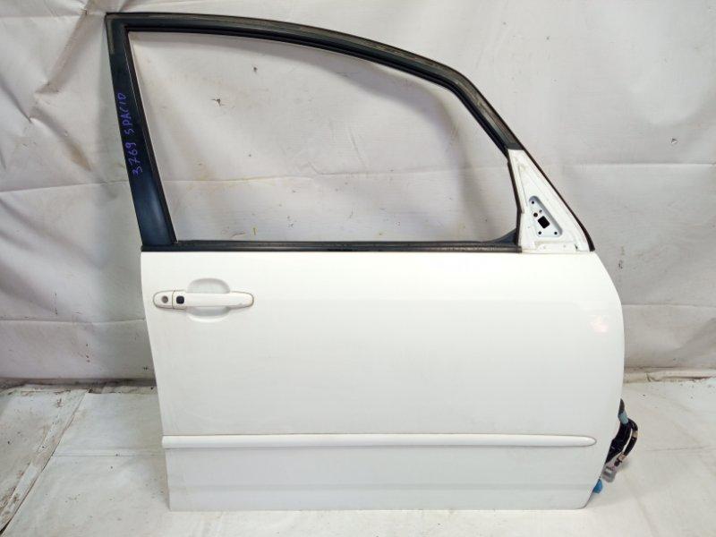 Дверь Toyota Corolla Spacio ZZE122 1ZZFE 2005 передняя правая