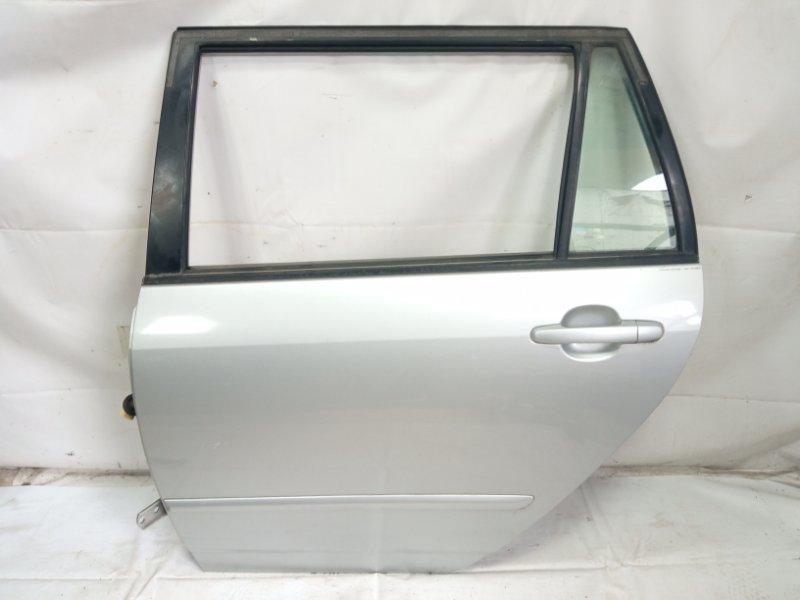 Дверь Toyota Corolla Fielder NZE121 3CE 2002 задняя левая