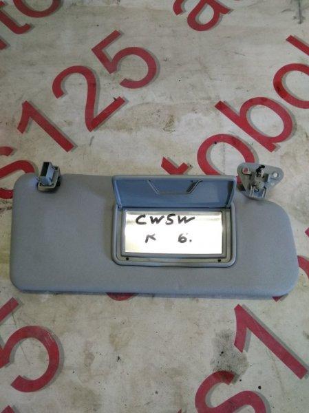 Козырек солнцезащитный Mitsubishi Outlander CW5W 4B12 2007 правый