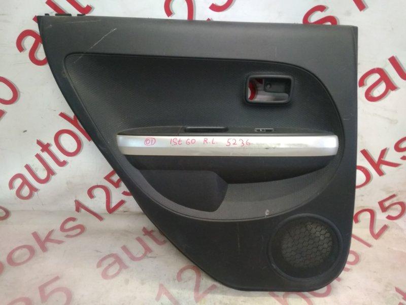 Обшивка двери Toyota Ist NCP60 задняя левая