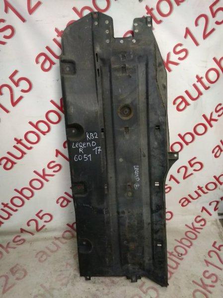 Защита днища кузова Honda Legend KB2 J37A 2008 правая