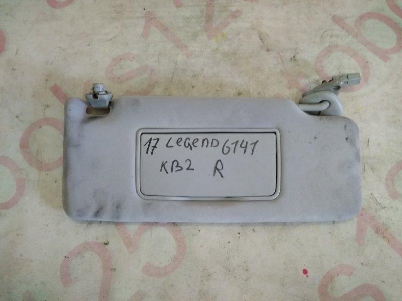 Козырек солнцезащитный Honda Legend KB2 J37A 2008 правый