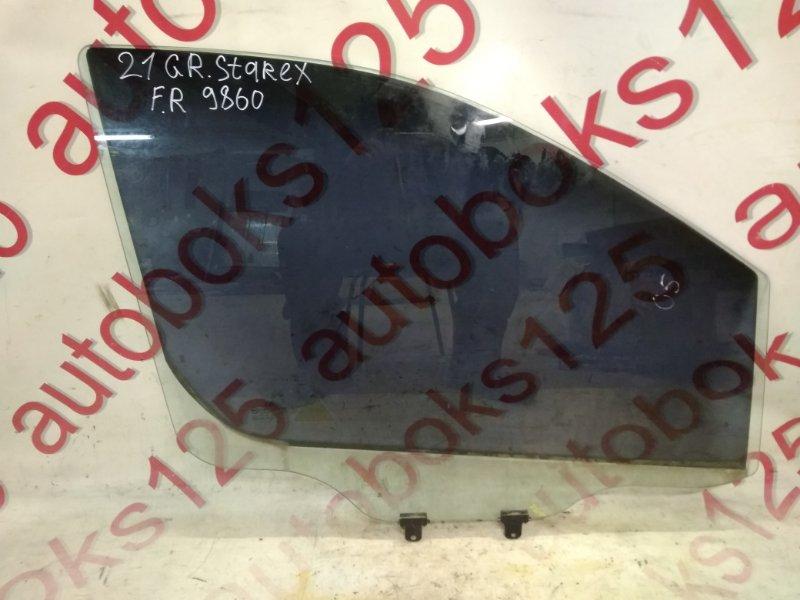 Стекло двери Hyundai Grand Starex TQ D4CB 2009 переднее правое