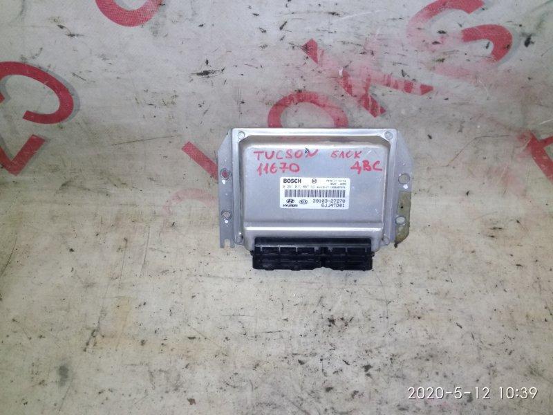 Блок управления двигателем Hyundai Tucson JM D4BB 2005