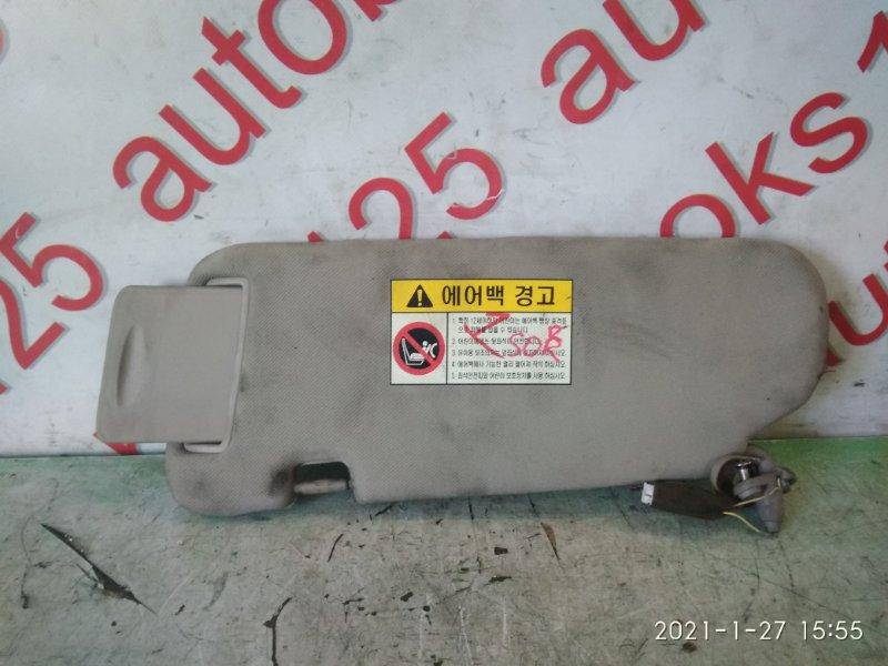 Козырек солнцезащитный Kia Sorento BL D4CB 2005 правый