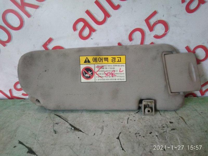 Козырек солнцезащитный Kia Sorento BL D4CB 2005 левый