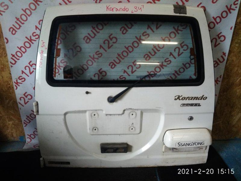 Дверь 5-я Ssangyong Korando KJ 2003