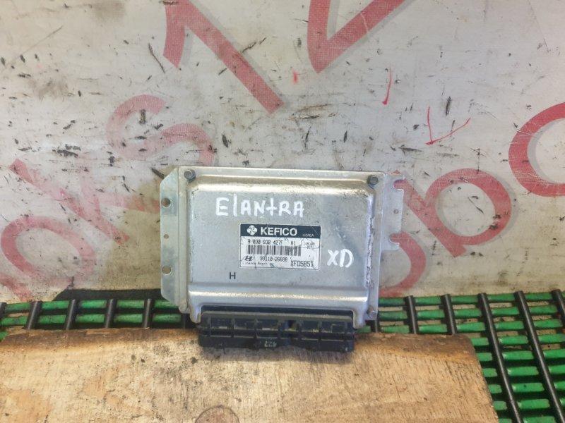 Блок управления двигателем Hyundai Elantra XD G4ED 2005