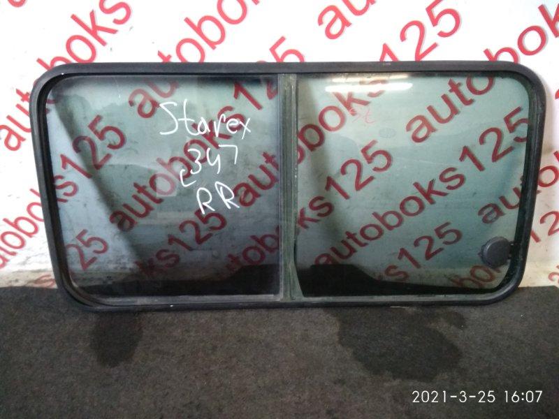 Стекло двери Hyundai Starex A1 2003 заднее правое