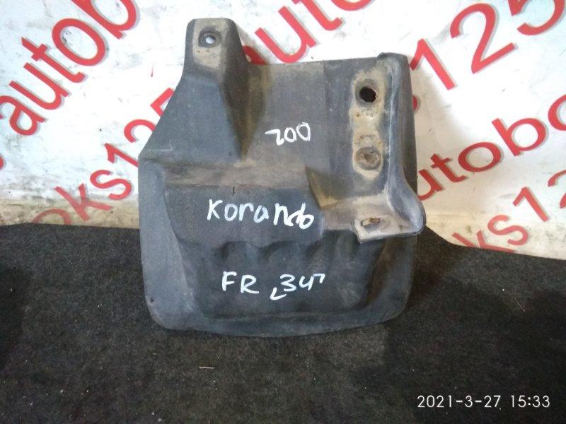 Брызговик Ssangyong Korando KJ 2003 передний правый