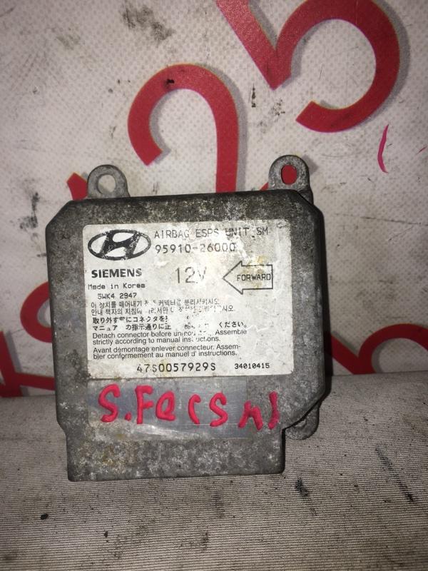 Блок управления аирбаг Hyundai Santa Fe SM D4EA 2005