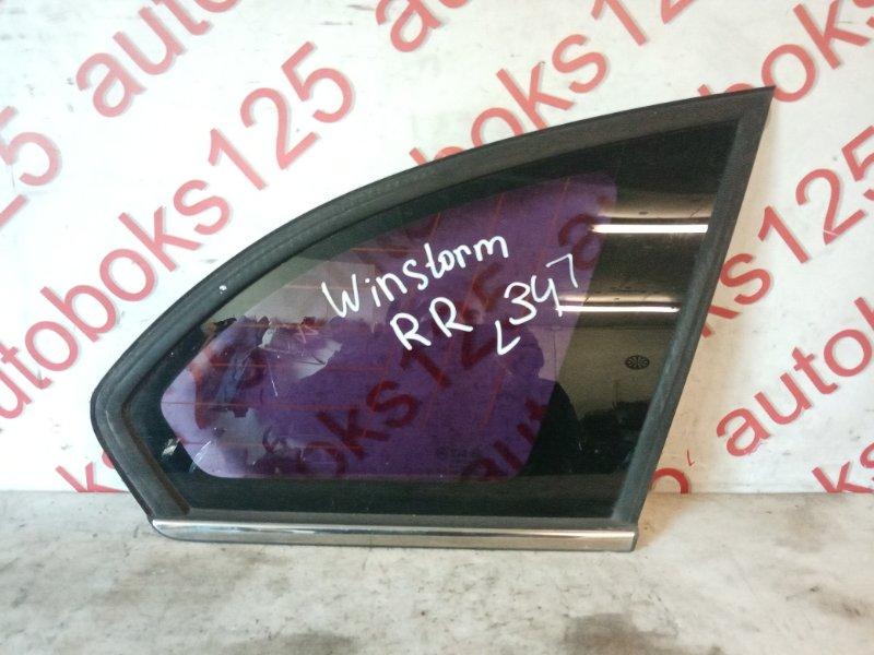 Стекло собачника Daewoo Winstorm KLAC Z20S 2008 заднее правое