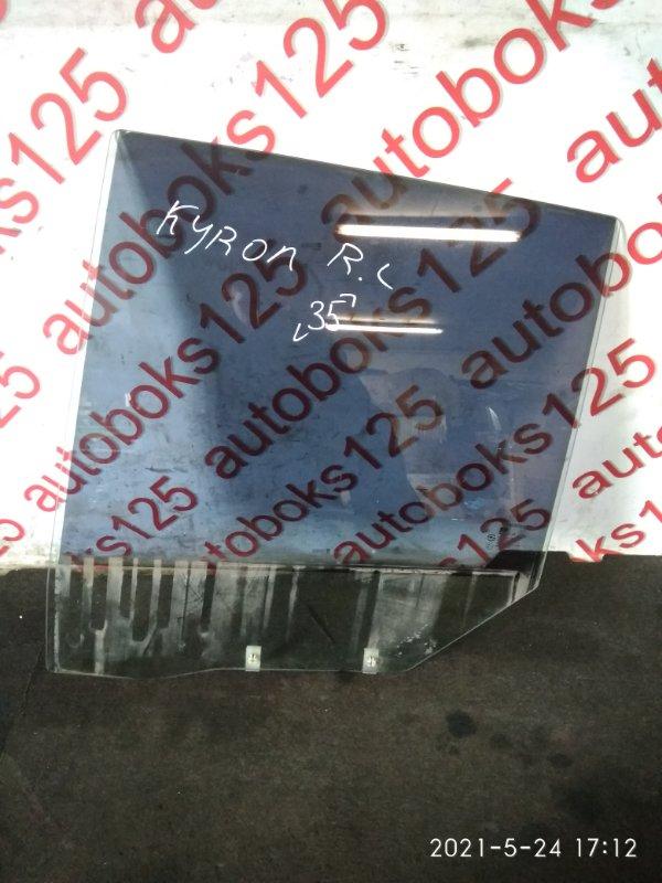 Стекло двери Ssangyong Kyron DJ 2007 заднее левое
