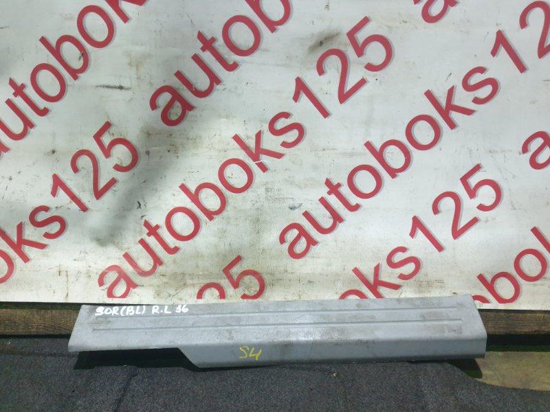 Накладка на порог Kia Sorento BL D4CB 2007 задняя левая