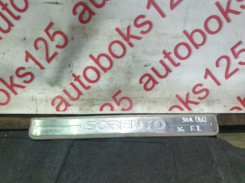 Накладка на порог Kia Sorento BL D4CB 2005 передняя правая