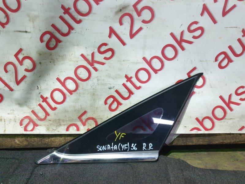 Форточка кузова Hyundai Sonata YF G4KD 2011 задняя правая