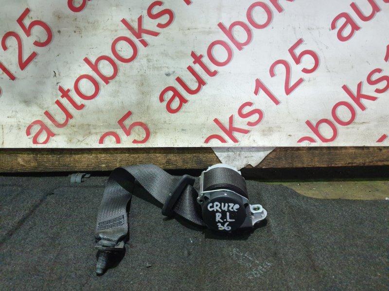 Ремень безопасности Chevrolet Cruze J300 F18D4 2010 задний левый