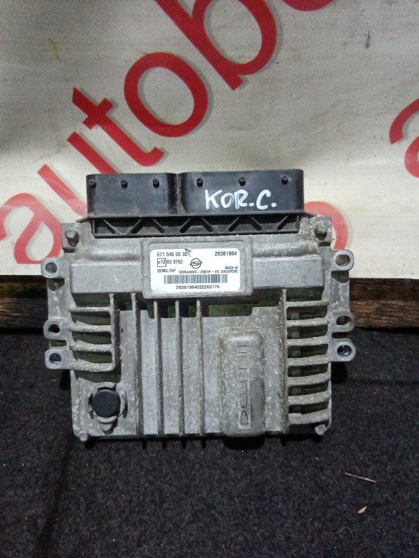 Блок управления двигателем Ssangyong Actyon CK D20DTF (671950) 2012