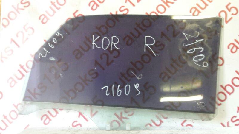 Стекло двери Ssangyong Korando KJ 2003 переднее правое