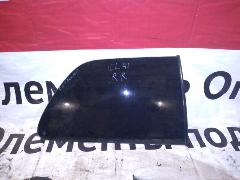 Стекло Toyota Corolla 2 EL41 4EFE 1991 заднее правое