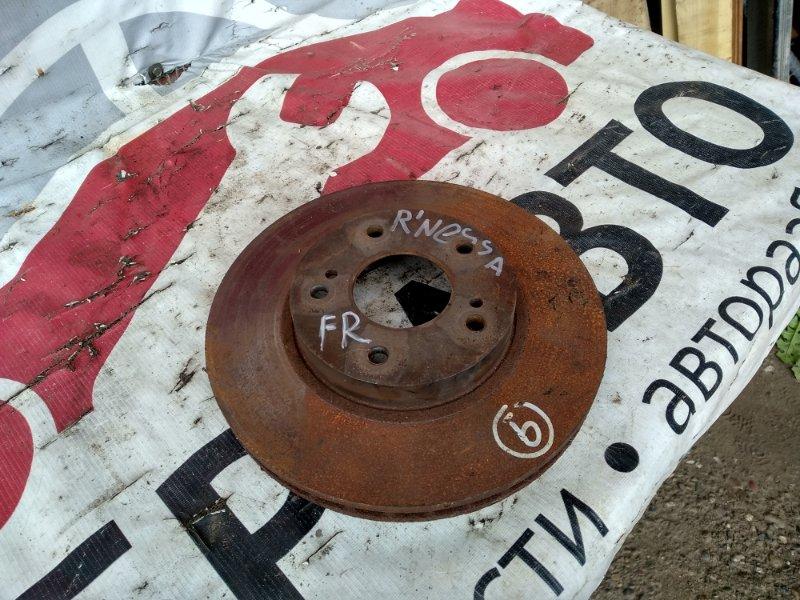 Тормозной диск Nissan R'nessa N30 SR20DE передний правый