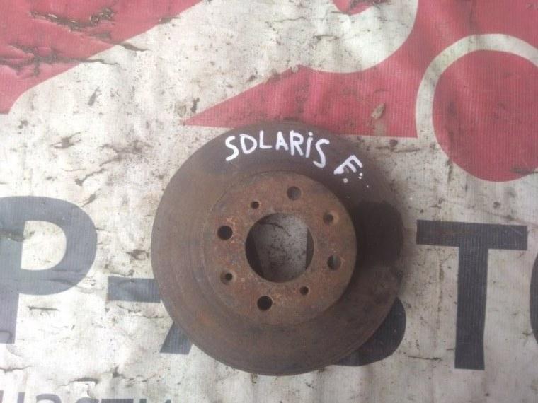 Диск тормозной Hyundai Solaris Accent I20 передний