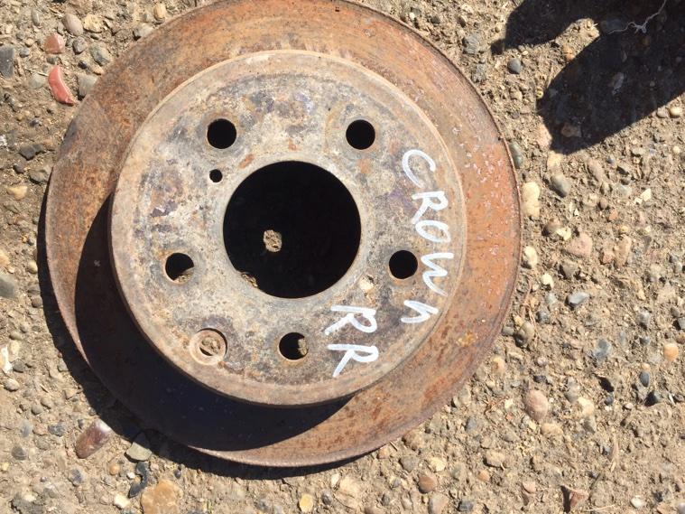 Диск тормозной Toyota Crown GS131 1G 1987 задний правый