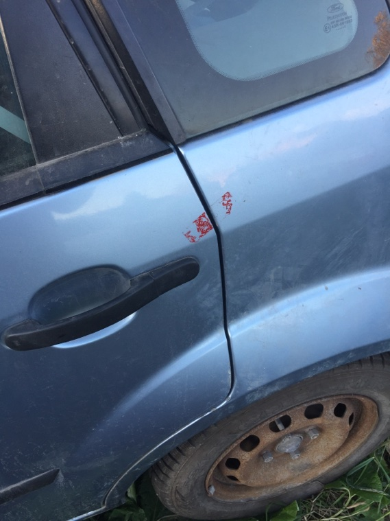 Дверь Ford Fiesta 2001 задняя левая