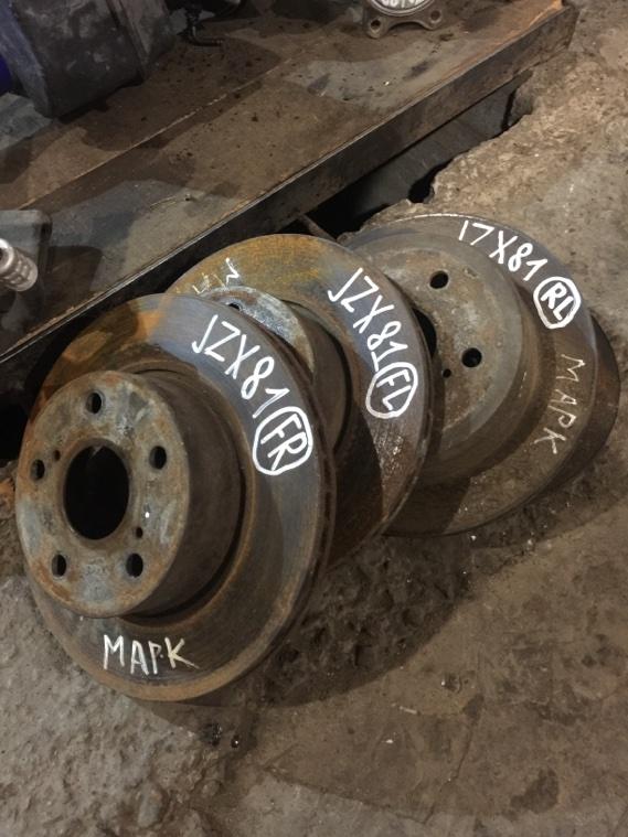 Диск тормозной Toyota JZX81 1JZGE передний