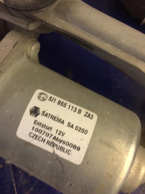 Мотор стеклоочистителя Skoda Fabia 5J 2007